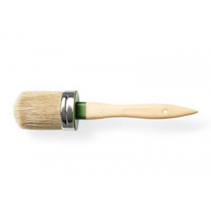 OVAL BRUSH IN PURE BLONDE BRISTLE
